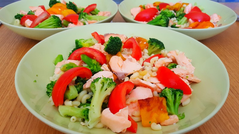 Recettes Salades de Pâtes au saumon