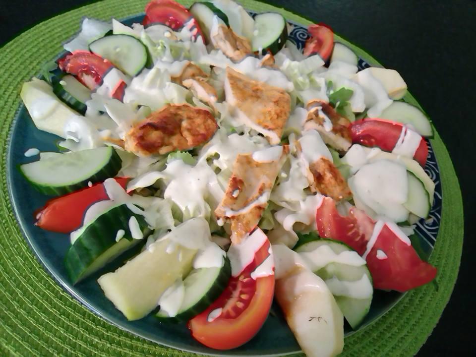 salade aux pommes