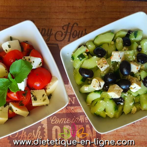 Recette Concombre à la Grecque (Feta) - Diététique En Ligne