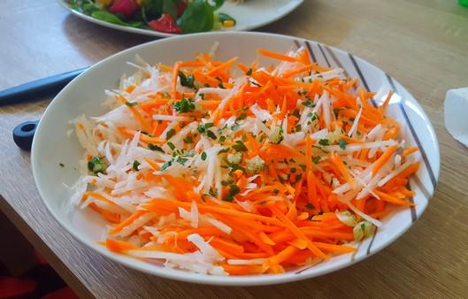 Duo de carottes et radis noir râpé