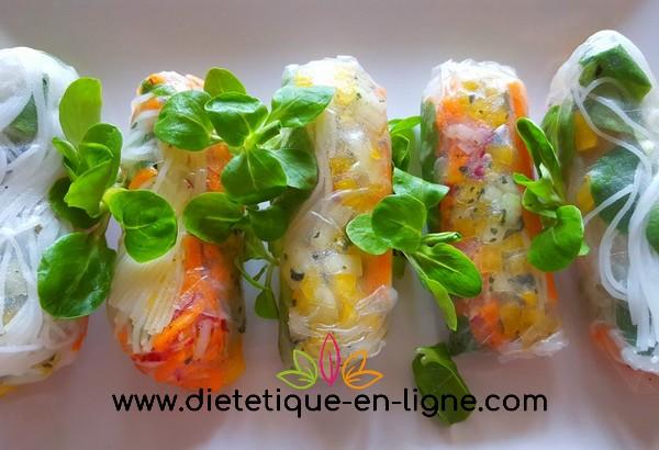 Recette Rouleaux de Printemps Végétariens