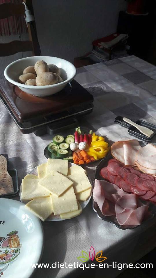 Raclette diététique - Christine