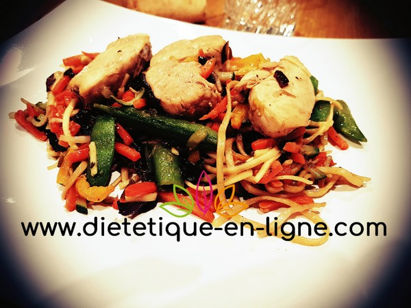 Recette Wok de Nouilles Chinoises - Diététique En Ligne