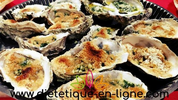 Bien manger pendant les fêtes en mangeant des huîtres