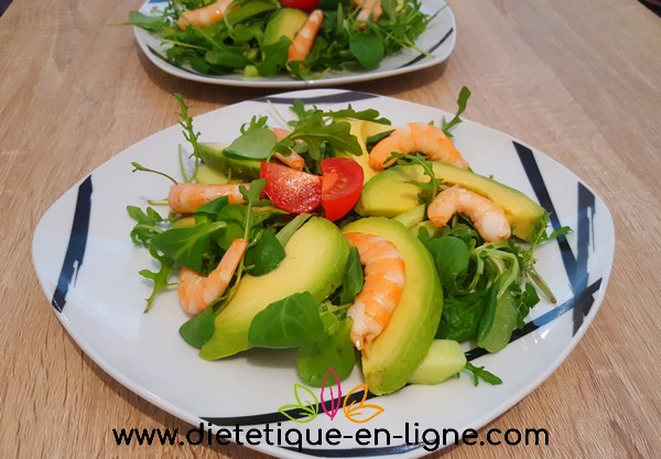 recette salade avocat crevettes di t tique en ligne. Black Bedroom Furniture Sets. Home Design Ideas
