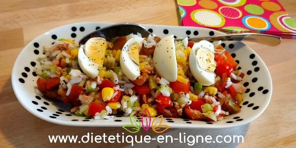 Recette Salade de Riz d'Été