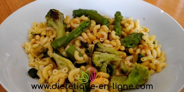 Recette Salade de Pâtes aux Légumes Verts