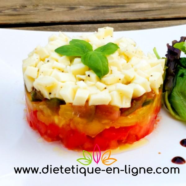 Tomate Mozzarella Originale - Façon Tartare - Diététique En Ligne