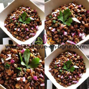 Recette Salade de Lentilles Froide - Entrée - Diététique En Ligne