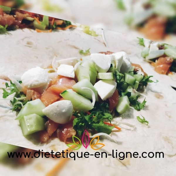 wrap saumon fumé avocat