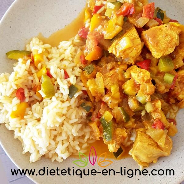 Colombo de poulet léger - diététique en ligne