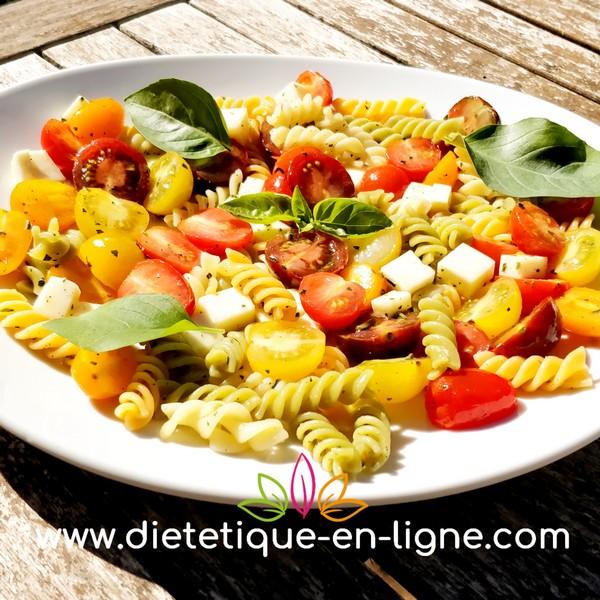 Recettes Salades de Pâtes tomates mozzarella