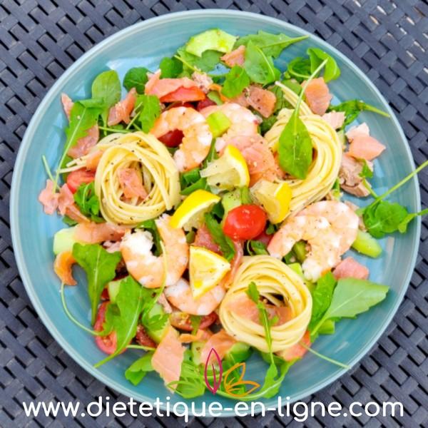 Salade Saumon Fumé Crevettes - Diététique En Ligne