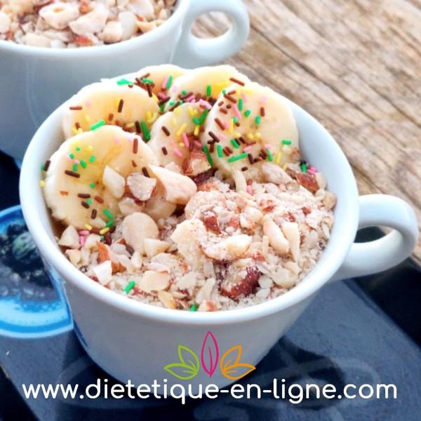 Porridge Banane - Overnight Porridge - Diététique En Ligne
