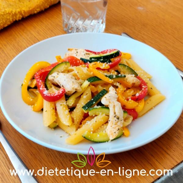 Pâtes aux Légumes - Recette - Diététique En Ligne