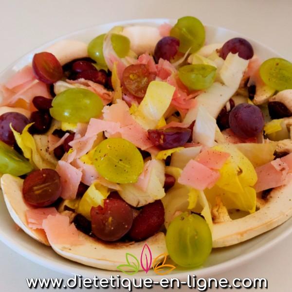 Salade d'Automne Endives Raisin