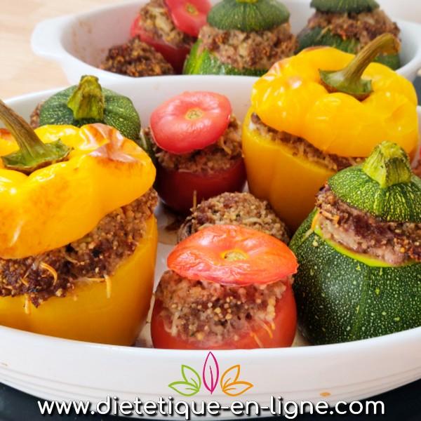 Légumes Farcis au Four à la Semoule - Diététique En Ligne
